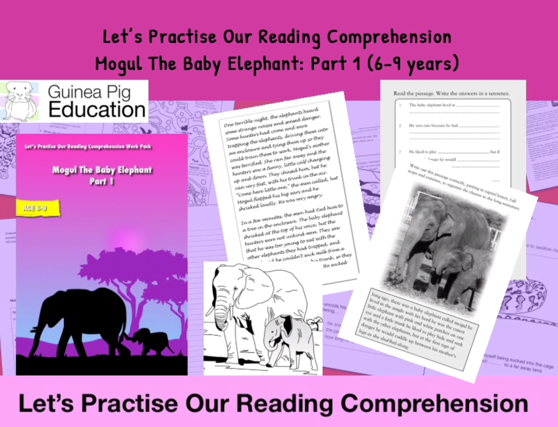 - Let's Practise Our Reading Comprehension: Mogul The Baby Elephant