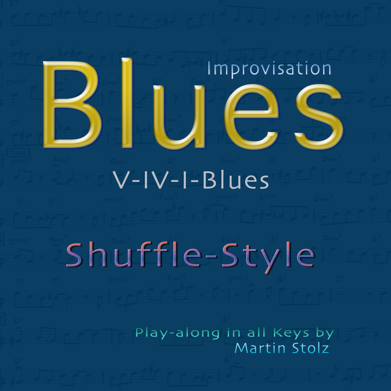 Blues play-along in shuffle-style in all keys