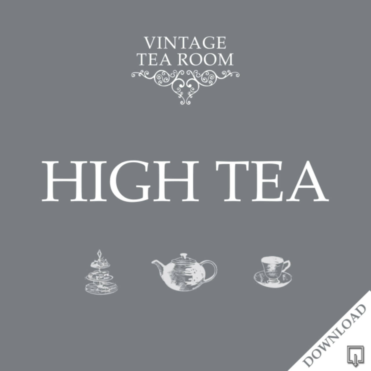 Vintage High Tea For One - Downloadable Voucher