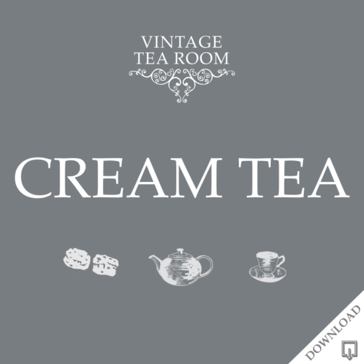 Vintage Cream Tea For One - Downloadable Voucher