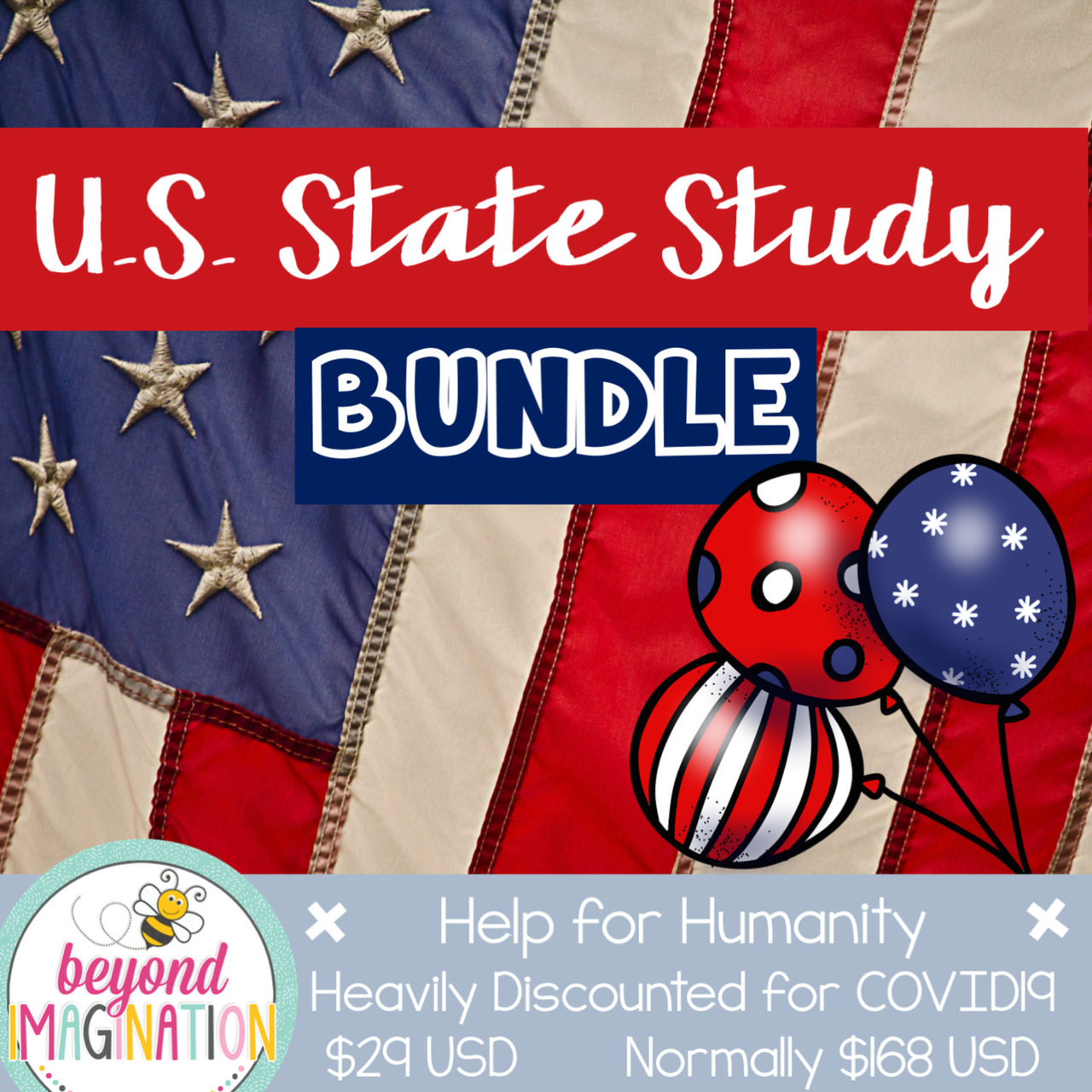 US State Study Bundle Help for Humanity COVID19