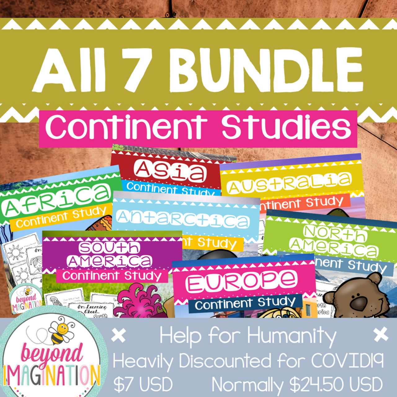 Continent Study Bundle Help for Humanity COVID19