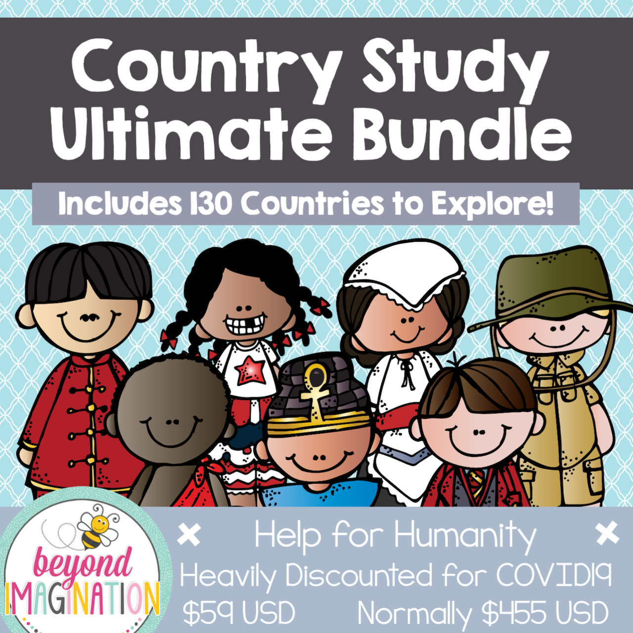 Ultimate Country Study Bundle Help for Humanity COVID-19