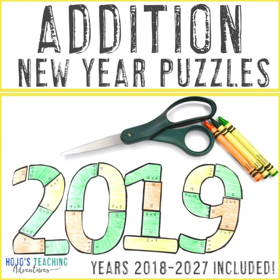 ADDITION New Years Puzzles (2018-2027 Included!)