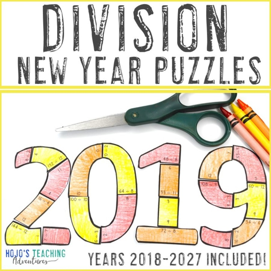 DIVISION New Years Puzzles (2018-2027 Included!)