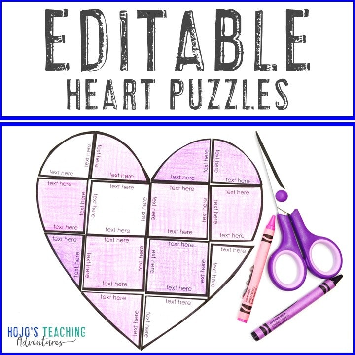 EDITABLE Heart Puzzle