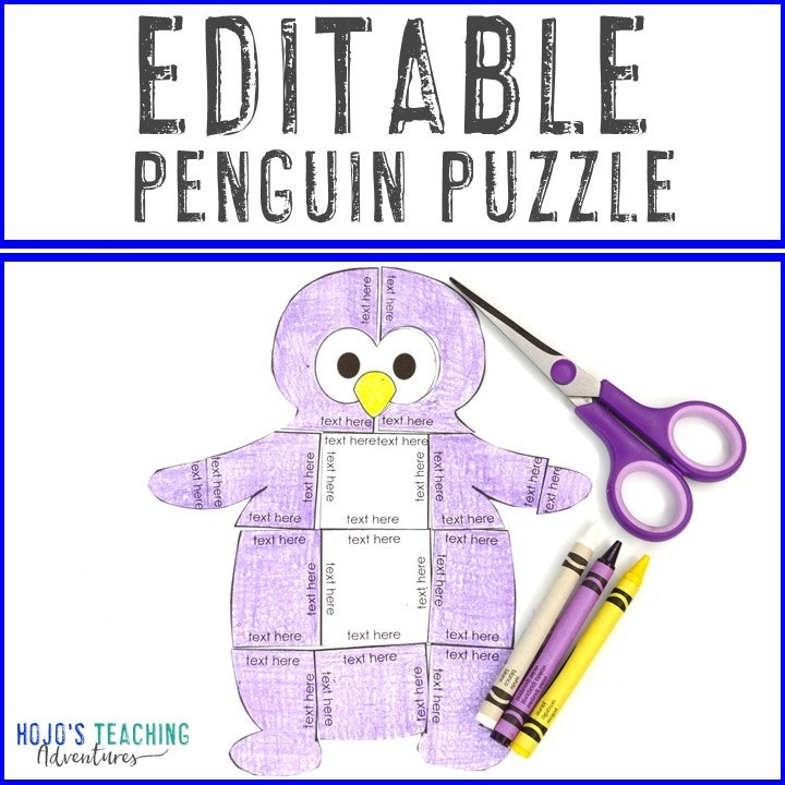 Editable Penguin Puzzle