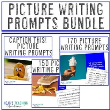 EDITABLE Picture Writing Prompts BUNDLE