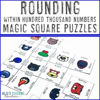 Rounding within Hundred Thousand Numbers Magic Square Puzzles