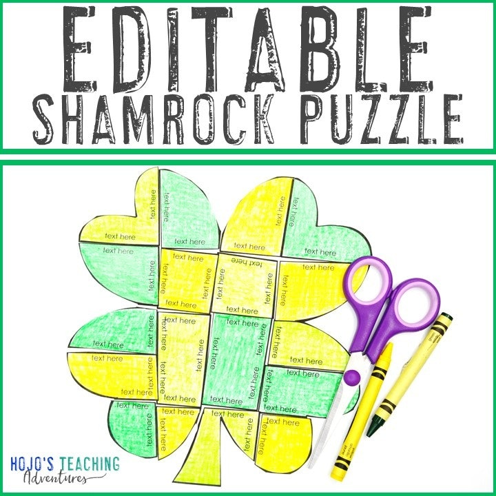 EDITABLE Clover Puzzles