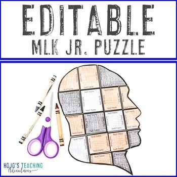 EDITABLE Martin Luther King Jr Puzzle