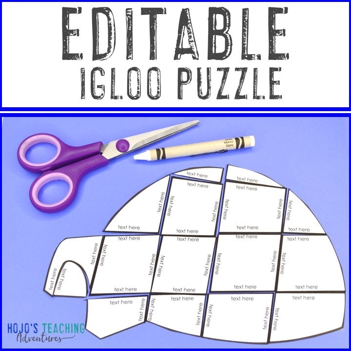 EDITABLE Igloo Puzzle