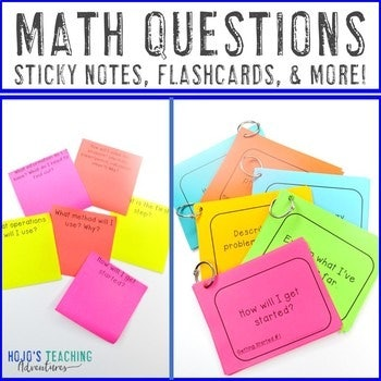 101 Math Questions for Kids - Sticky Notes, Flashcards, & MORE!