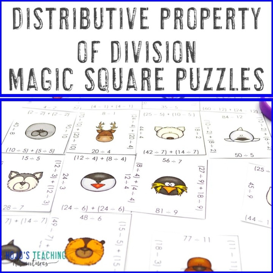 Distributive Property of Division Magic Square Puzzles