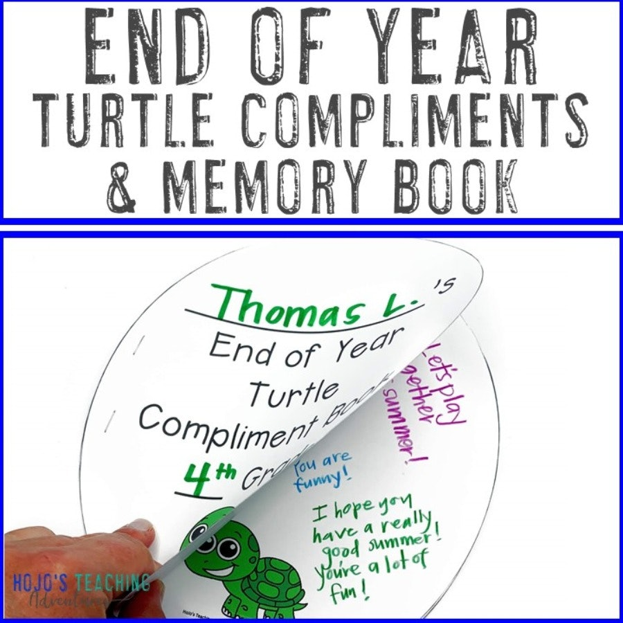 End of Year Turtle Compliments and Memory Book