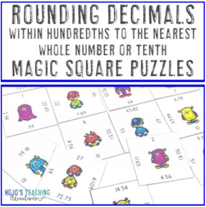 Rounding Decimals within Hundredths to the Nearest Whole Number or Tenth