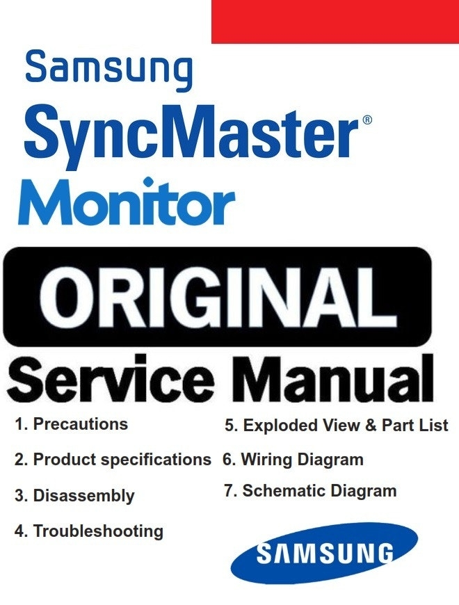 Samsung Syncmaster T200m T220m Monitor Service Manual