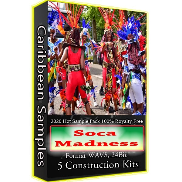 Soca Madness 2020 Sample Pack ( Producer's Singers)100% Royalty Free