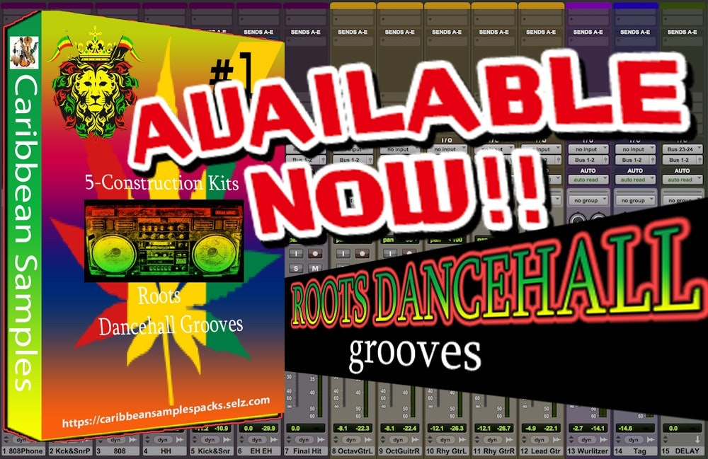 Roots Dance-hall Grooves #1 / 5 - Construction Kits / Sample Pack.