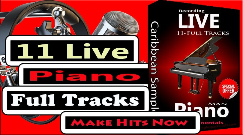 11 . Live Piano Recording All Use!