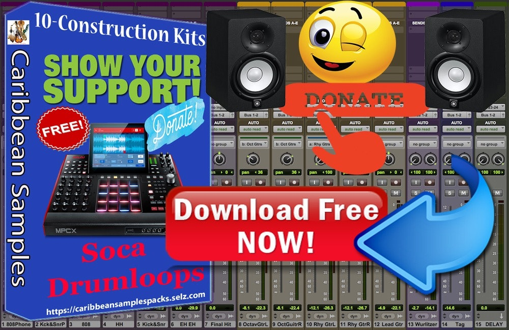 95% off / Free Soca Drum loops Pack / 10 Construction Kits / Producers / Singers.