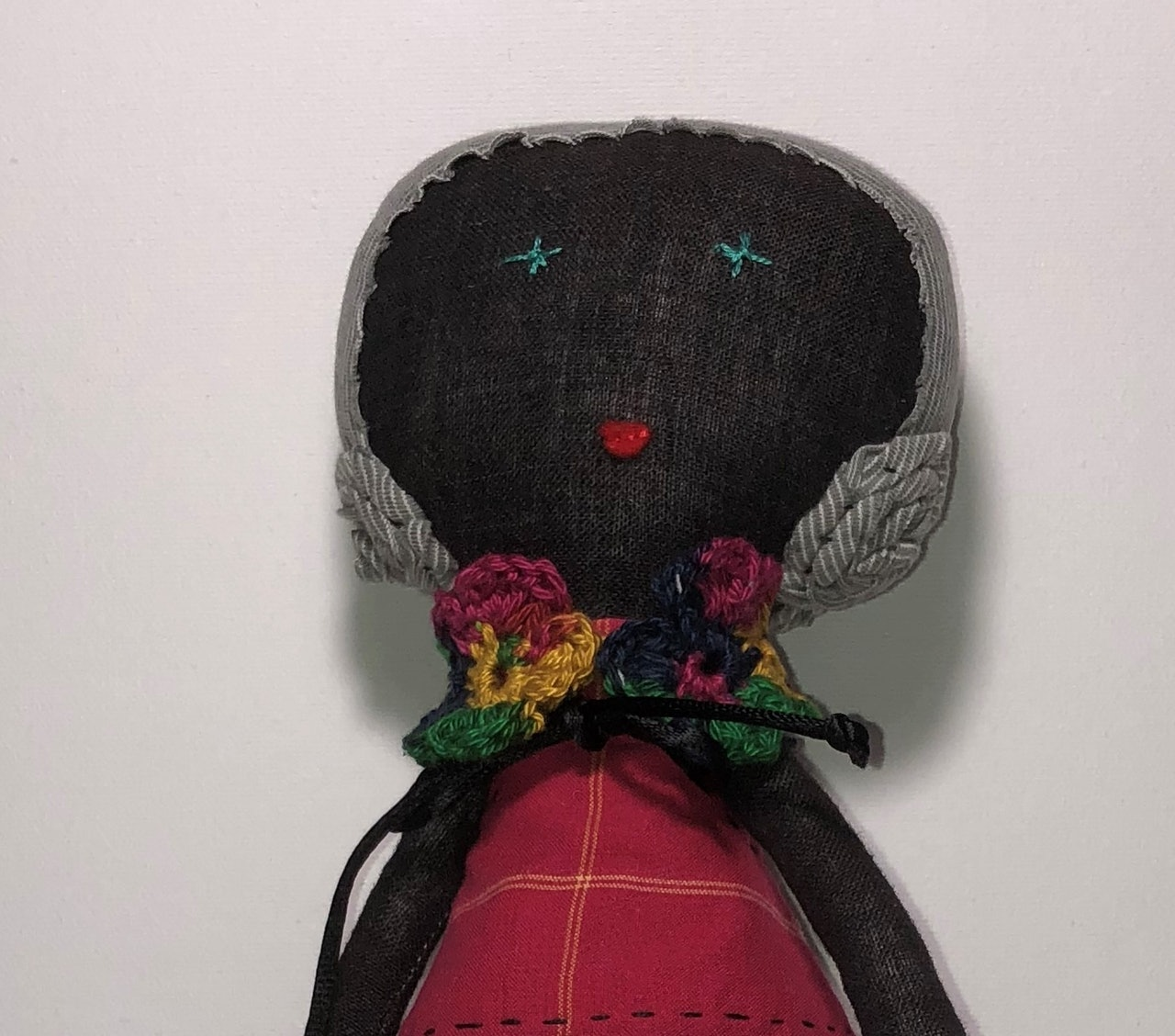 Frances - linen fabric doll