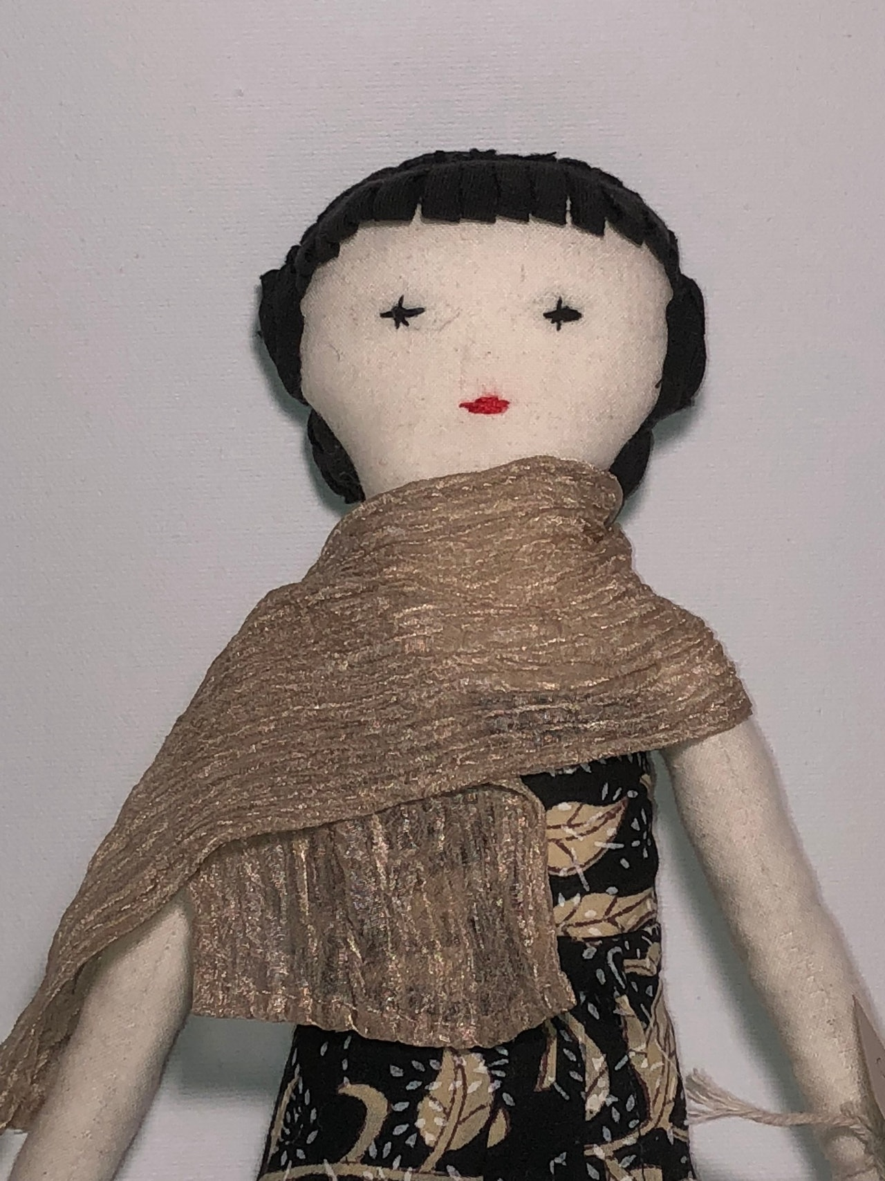Usha - cotton fabric doll