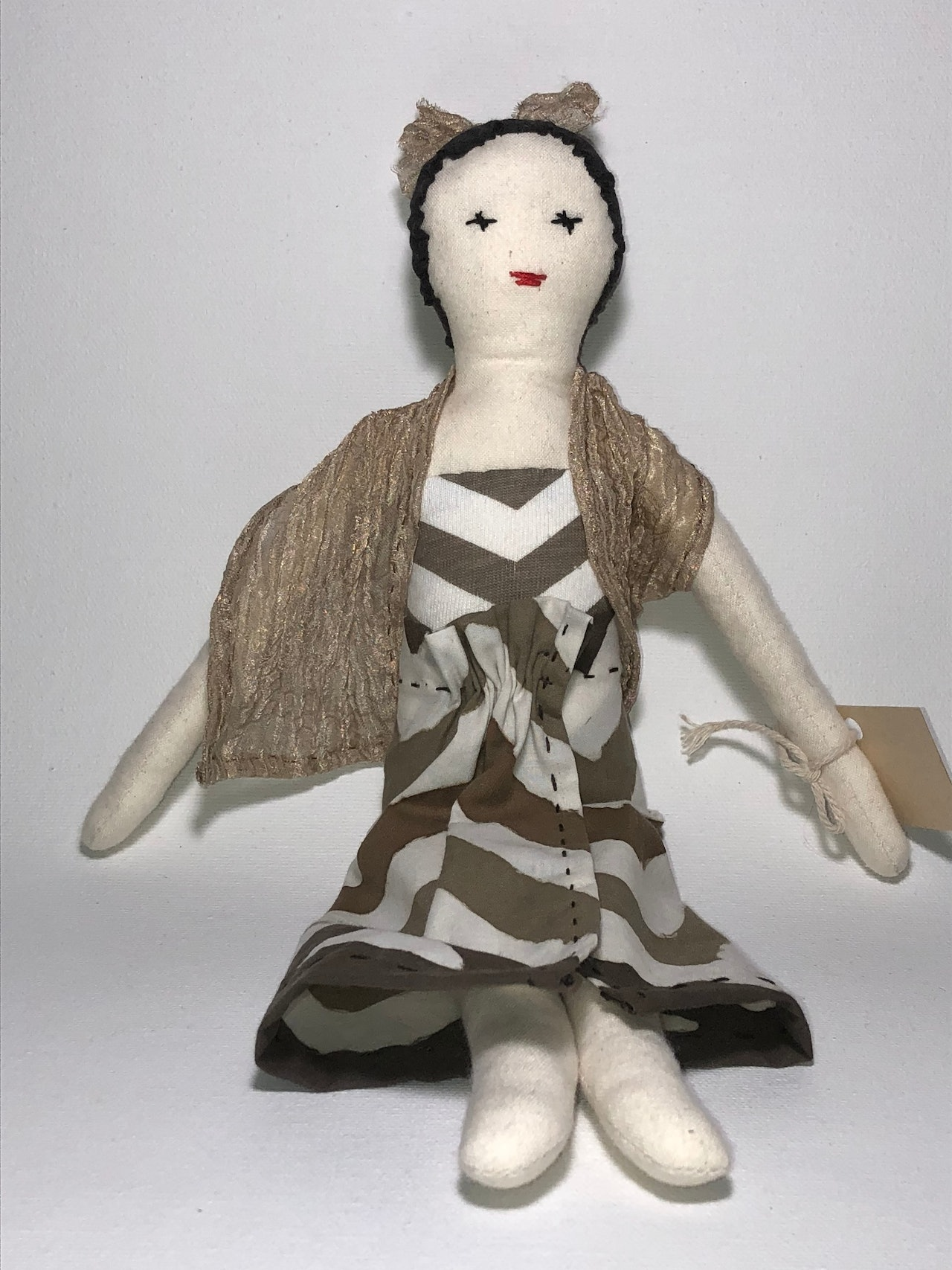 Poppy - cotton fabric doll