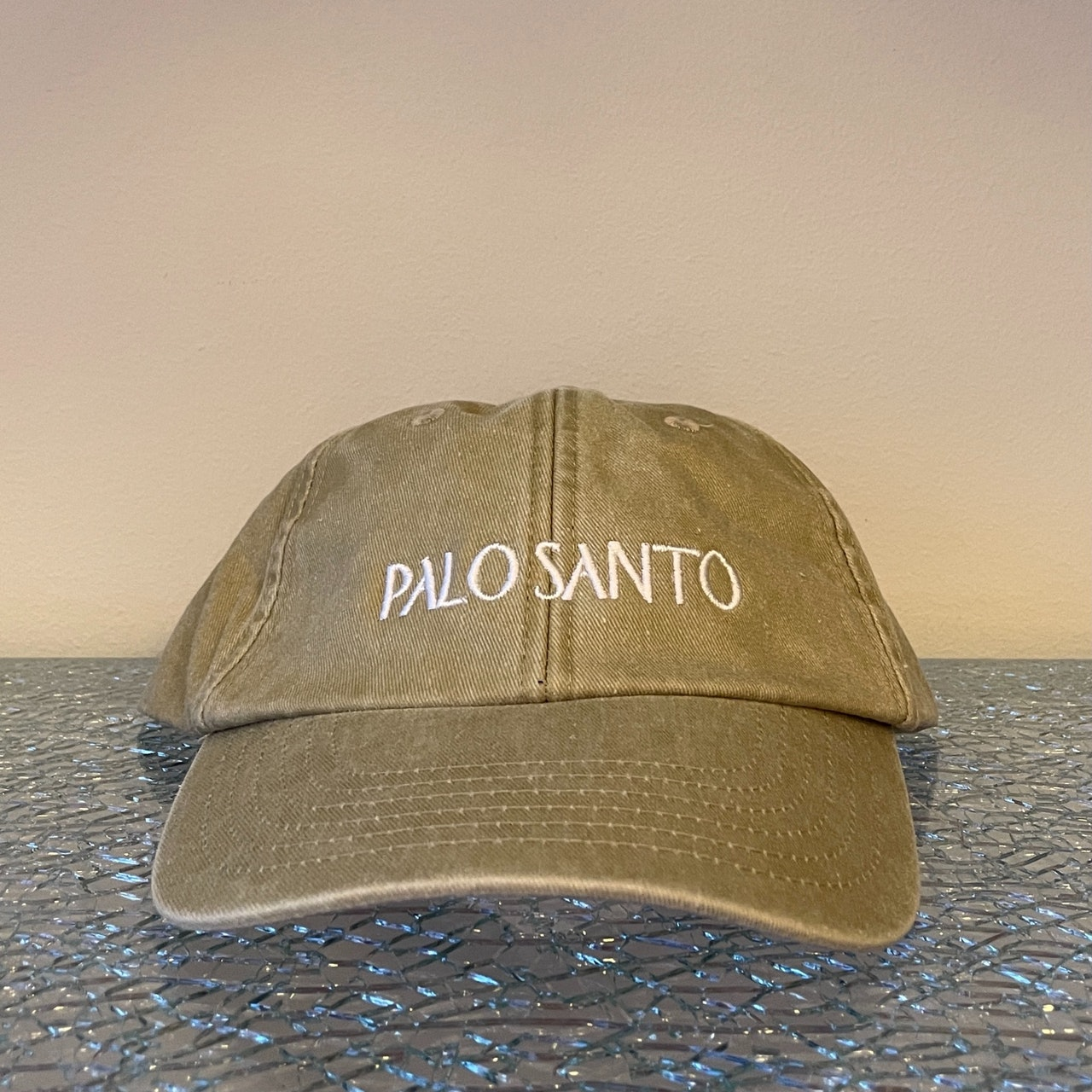 Hat, Palo Santo, washed out beige/white