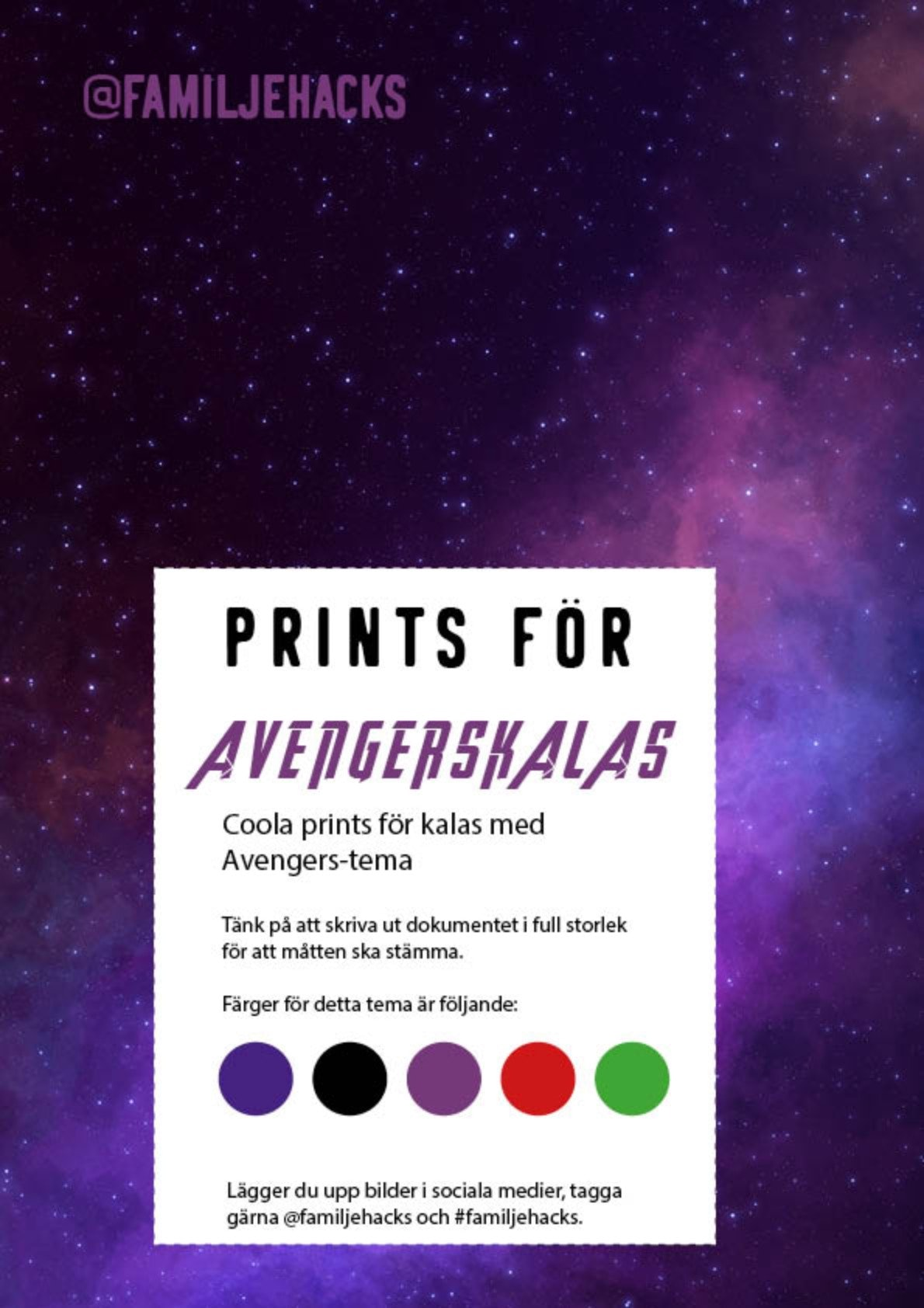 Avengersparty prints