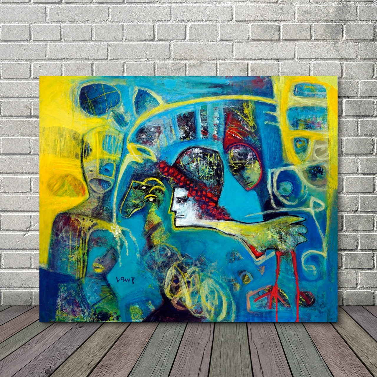 Neo-Abstract Expressionism Acrylic Canvas Painting