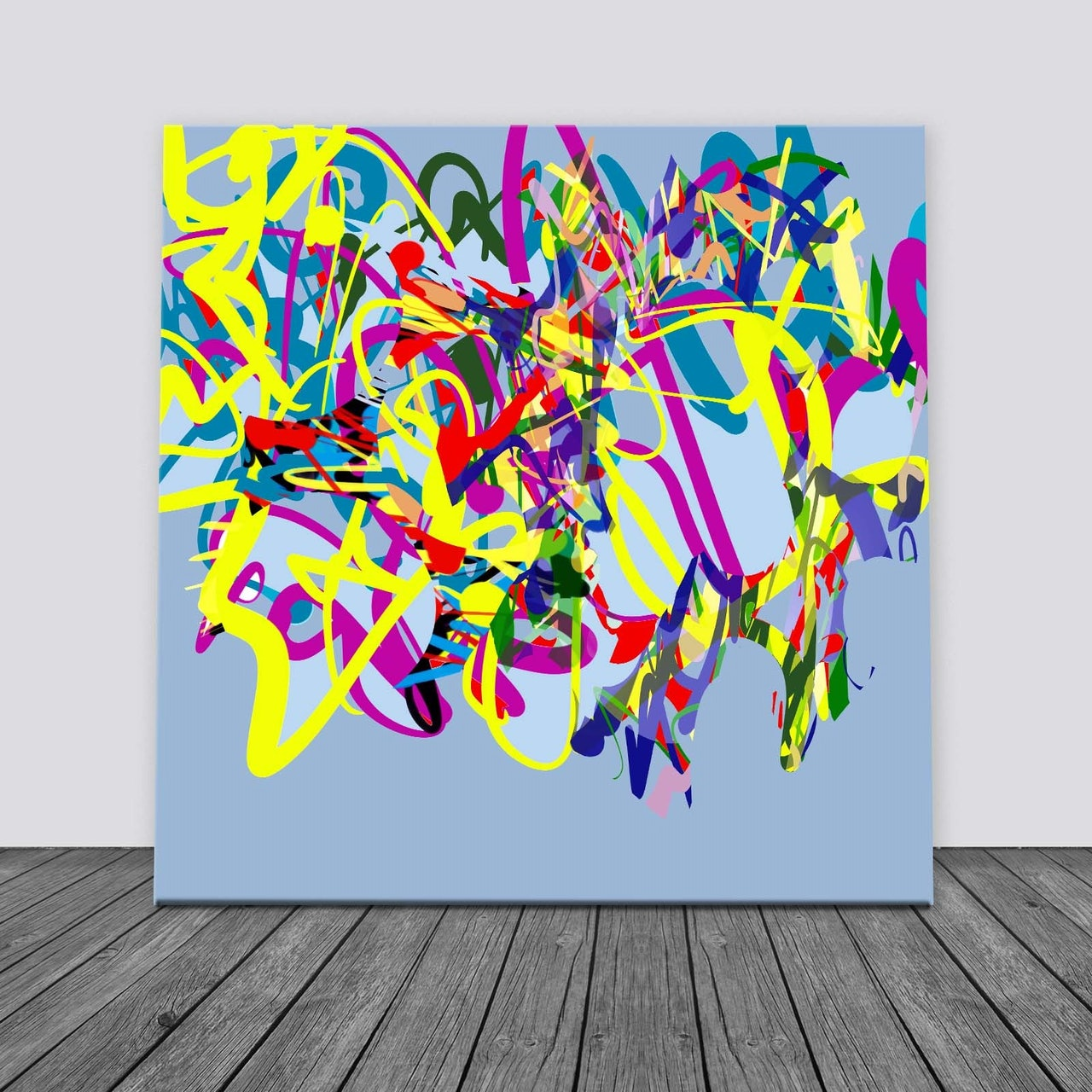Pay What You Want Large Abstract  Painting Printable