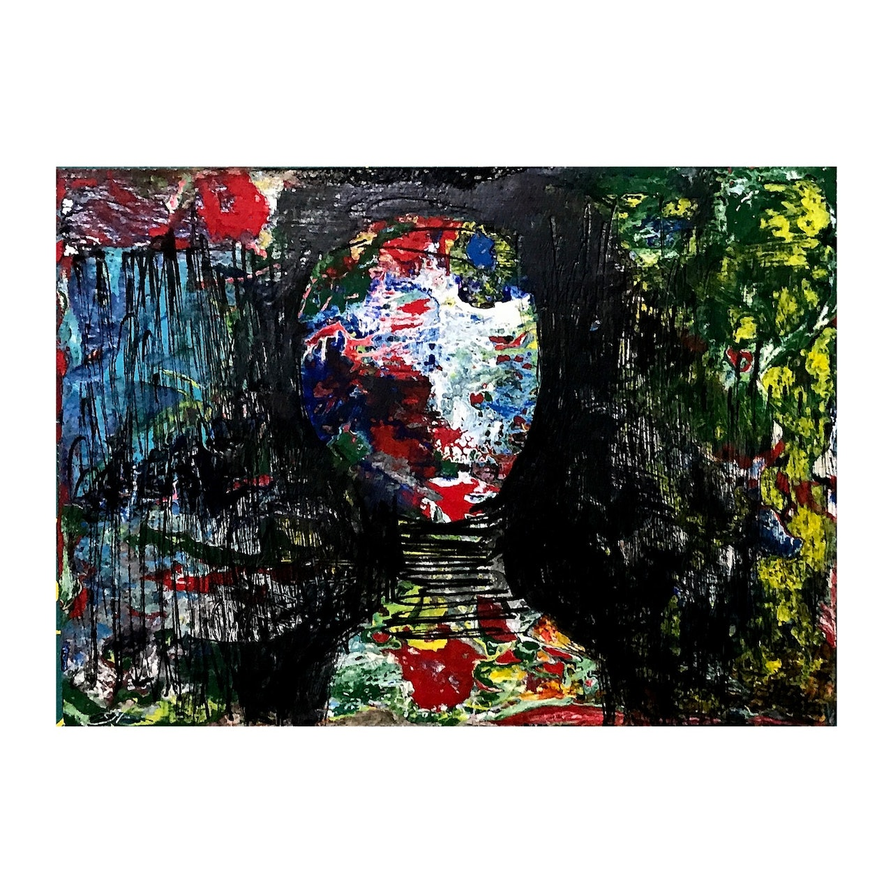 Original Small Abstract Portrait Series of People-New
