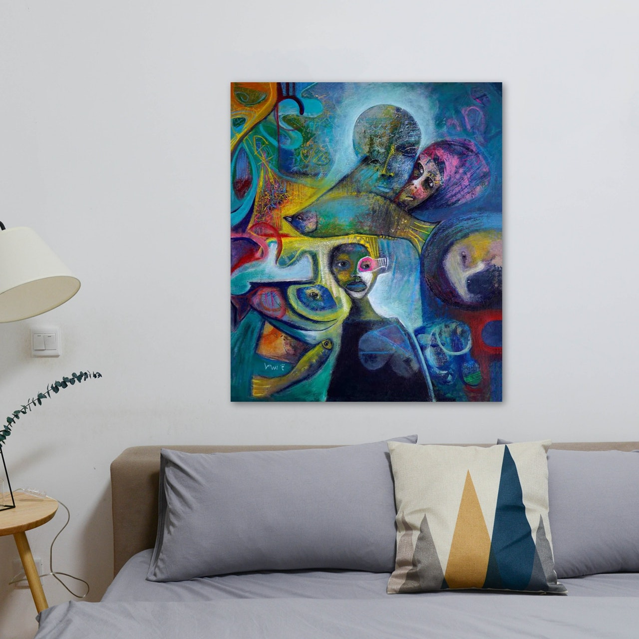 Neo-Abstract Expressionism-Canvas Painting-Hope