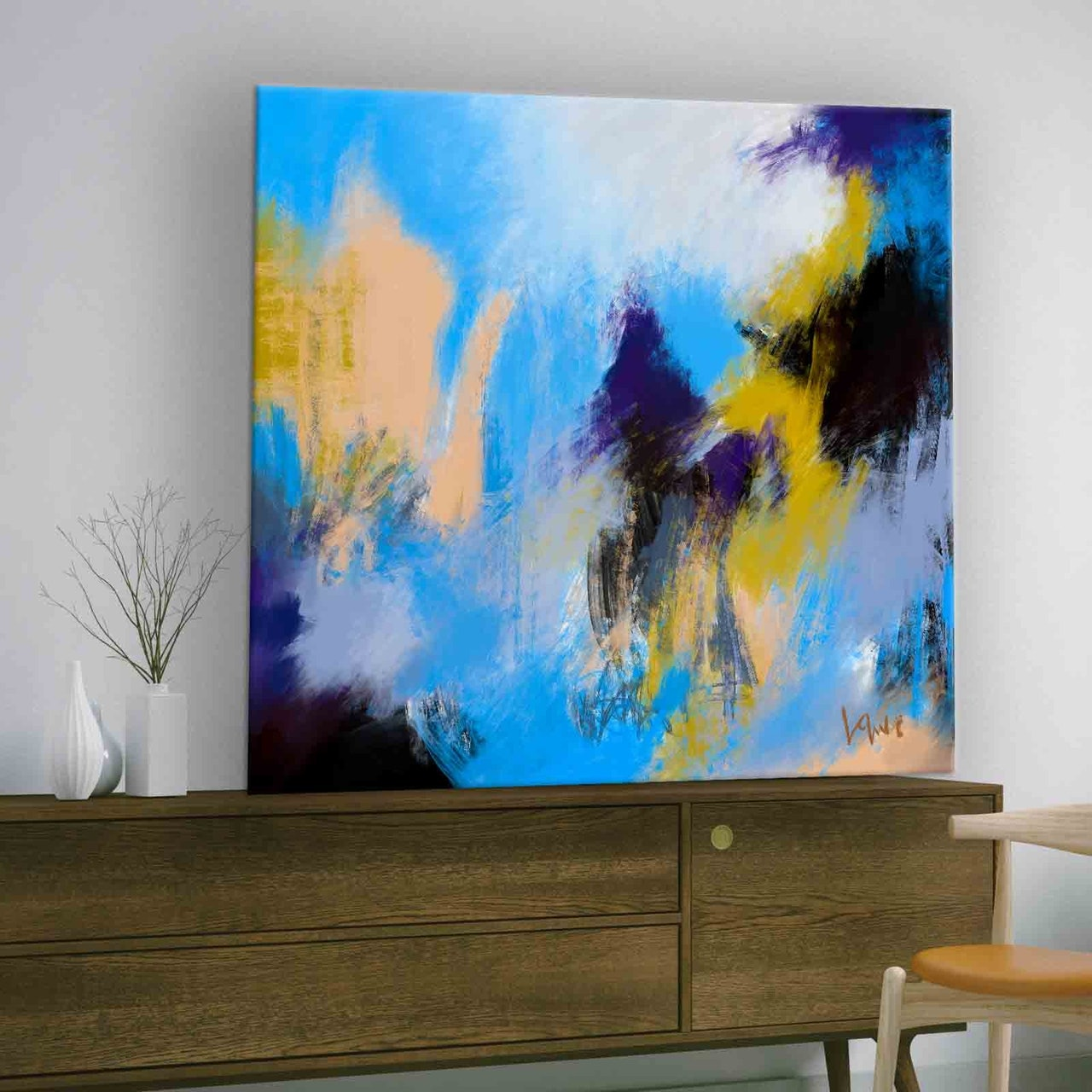 Pay What You Want Downloadable Abstract Painting-Blue Skies