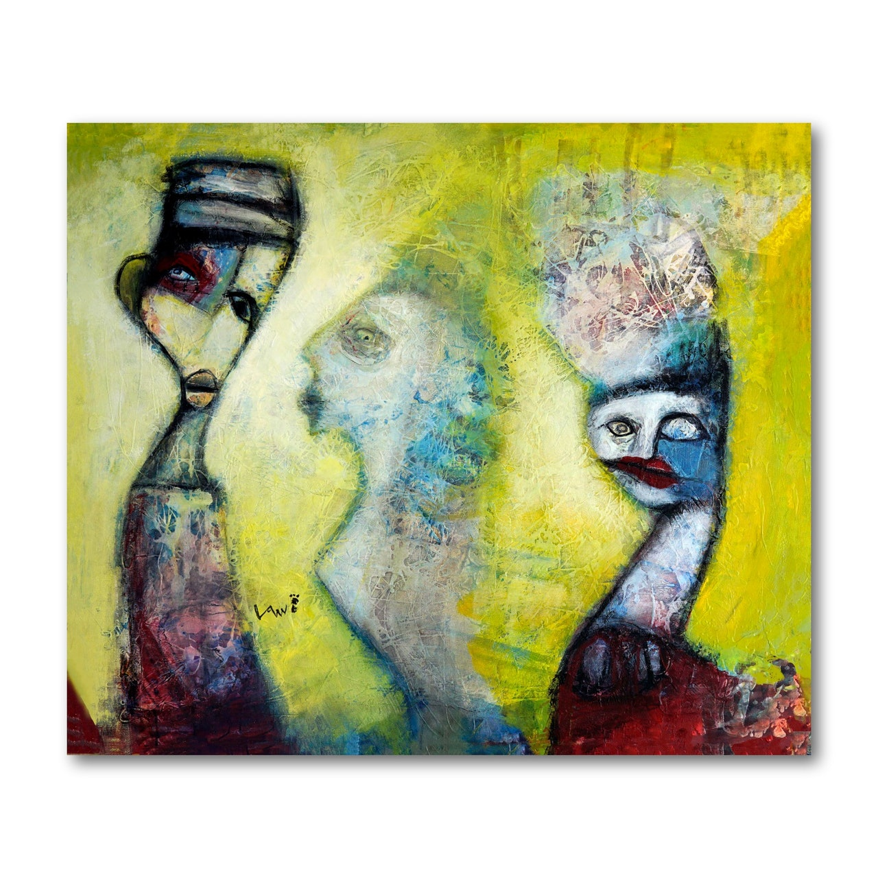 Neo-Abstract Expressionism-Canvas Painting-The Go Between by Ken Law