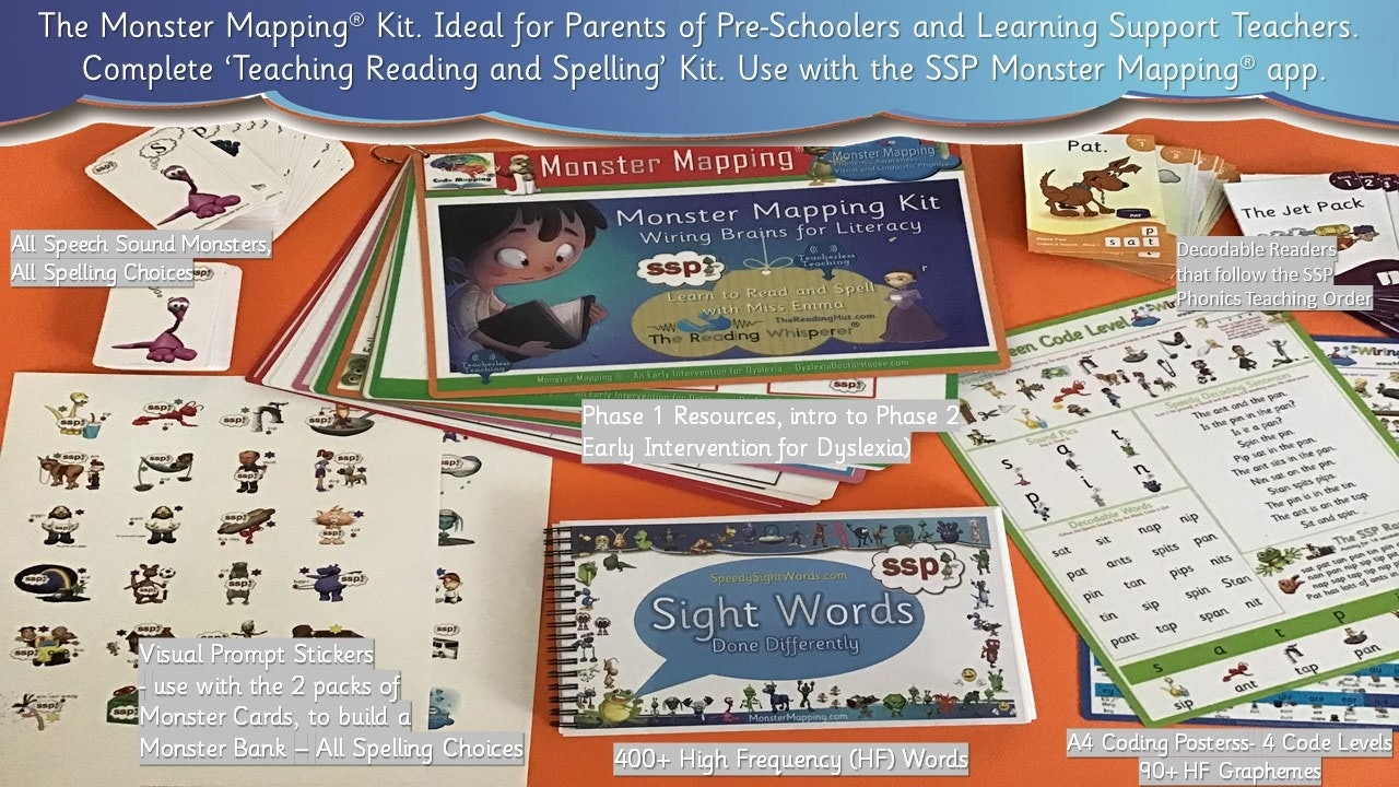 Monster Mapping Kit - Teach Phonemic Awareness and Phonics in the Early Years!