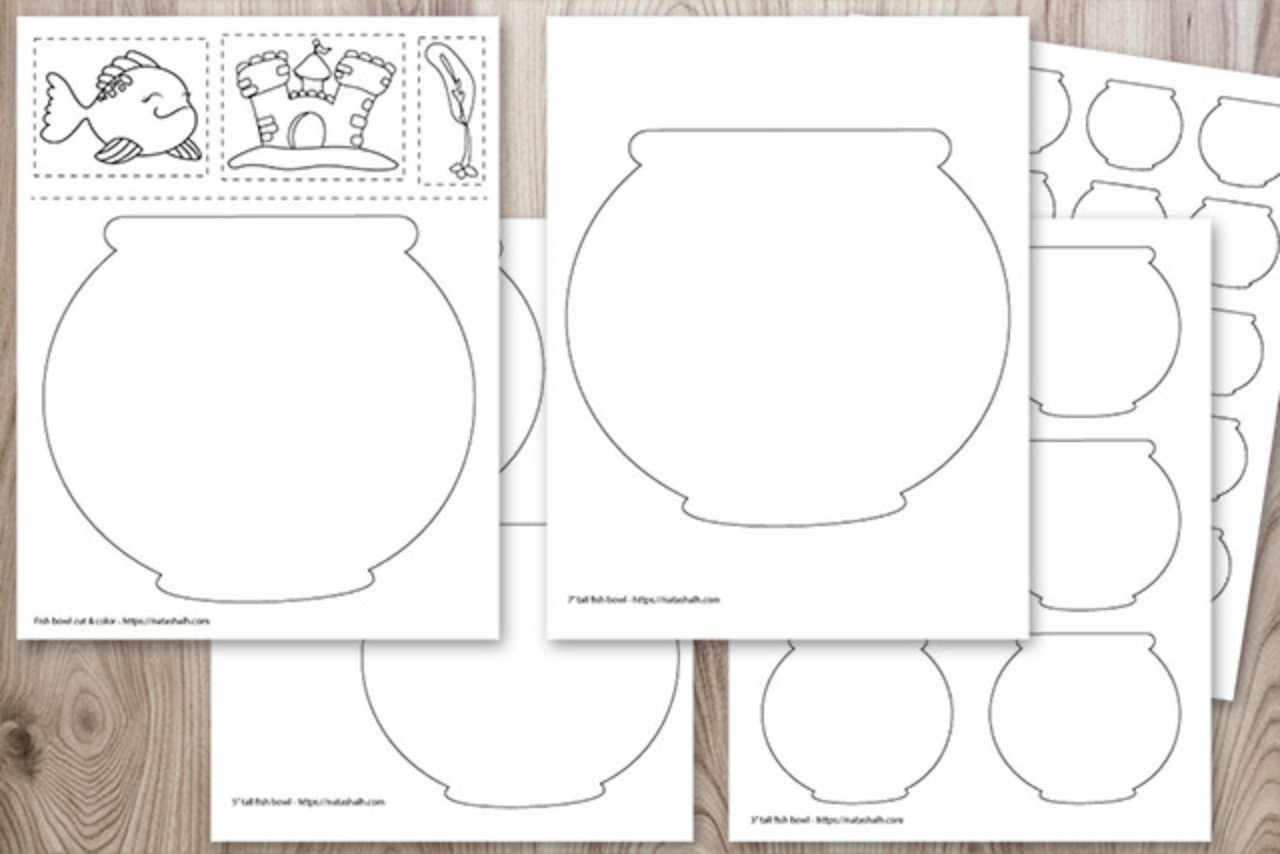 Fish In A Fish Bowl Coloring Page Stock Illustration ...   854x1280