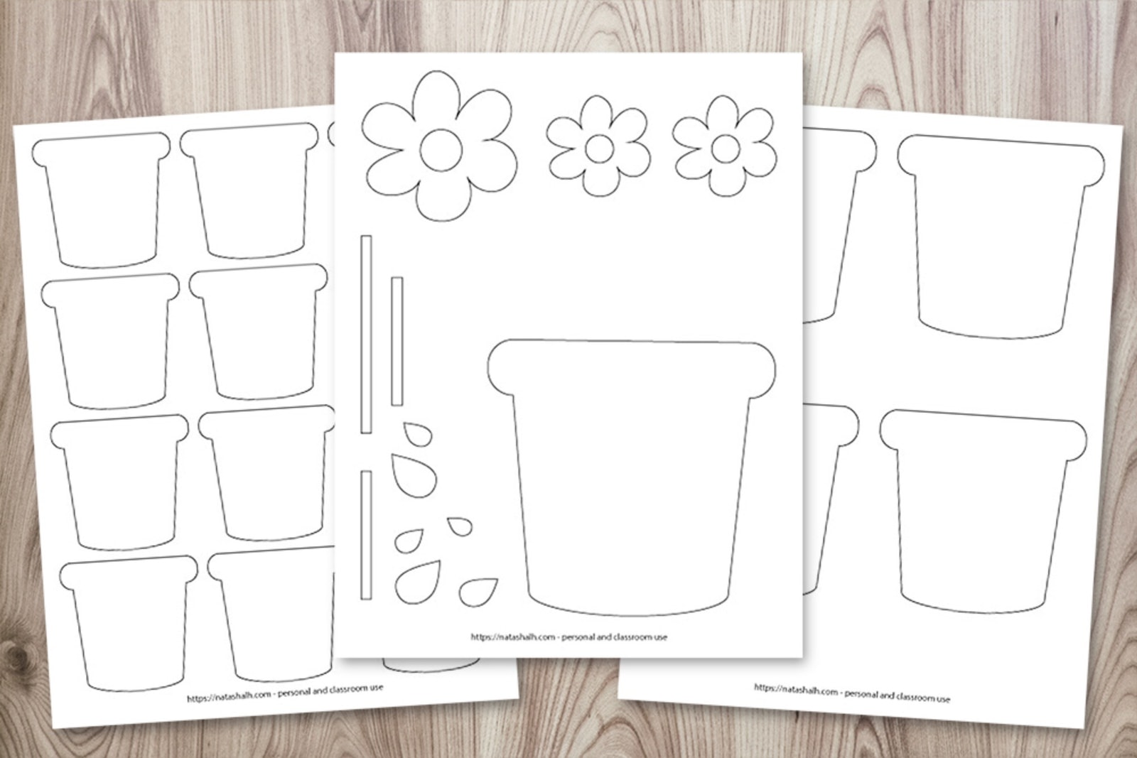 Image for Flower Pot Templates