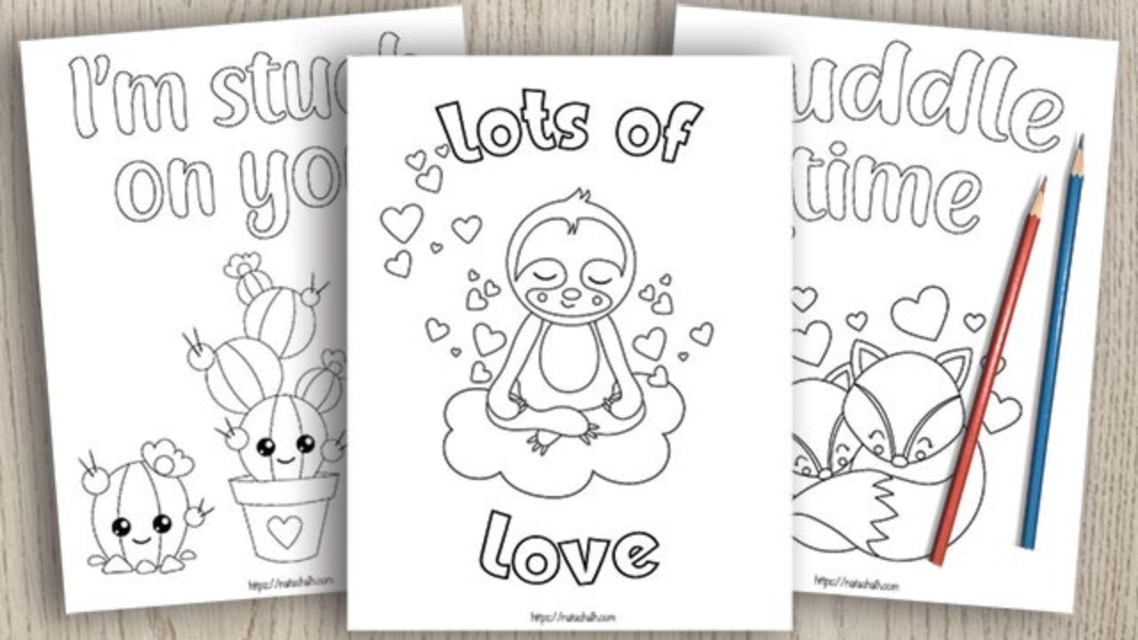 Happy Valentine's Day coloring page   Free Printable Coloring Pages   720x1280