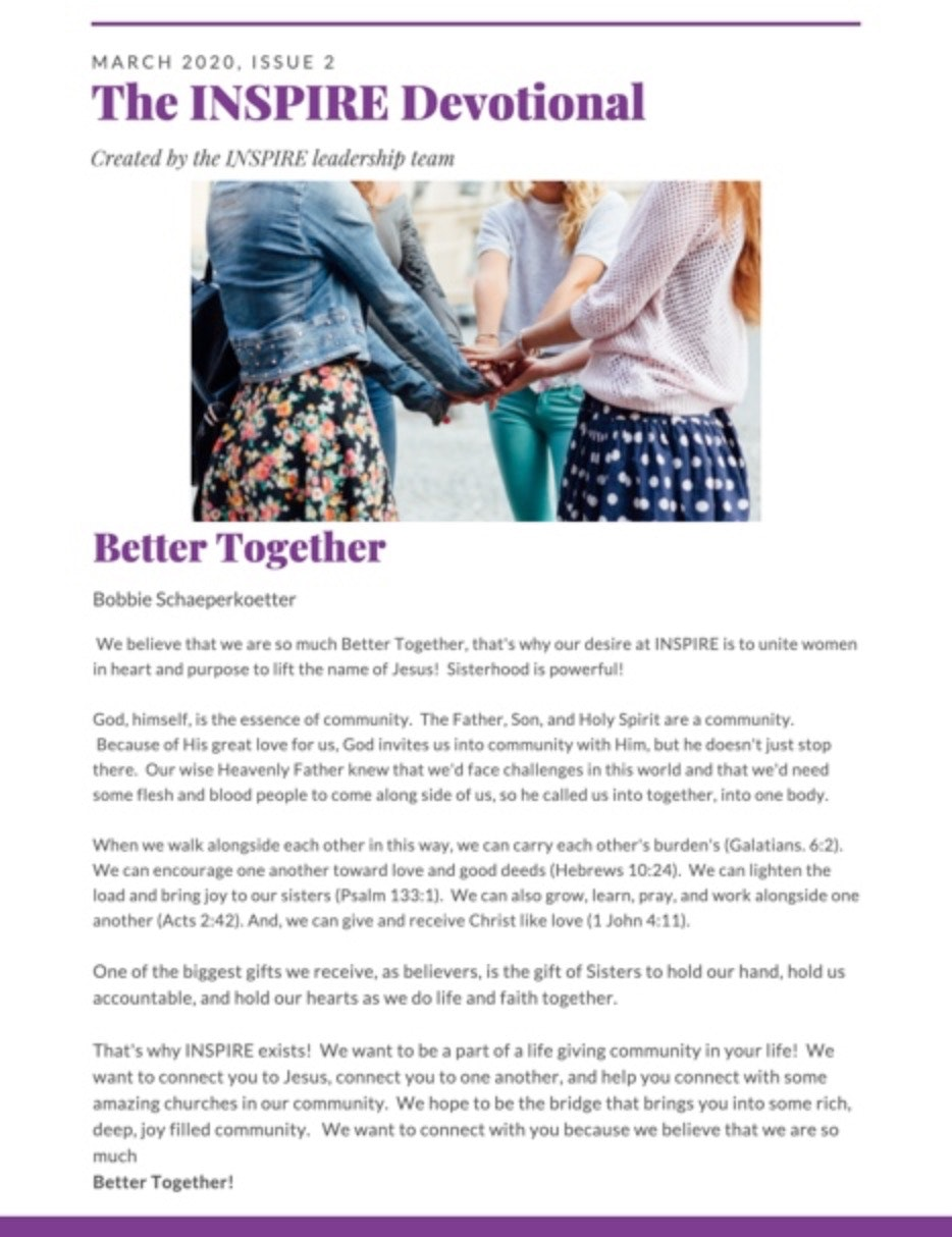 March 2020 INSPIRE Better Together