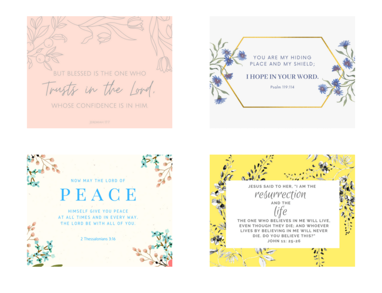 April Scripture Printable Cards
