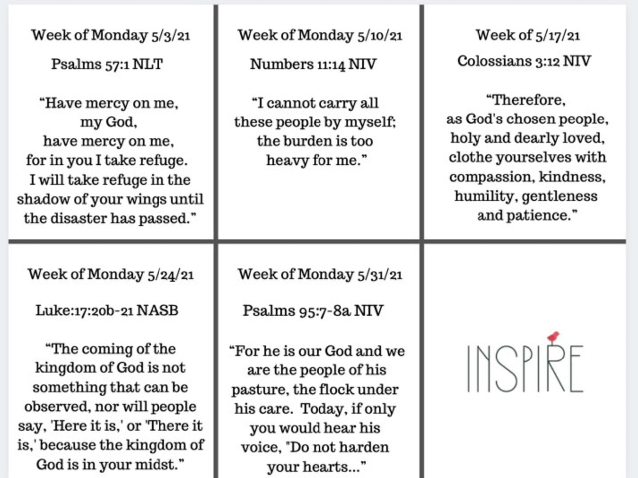 May 2021 All In Scripture Printables