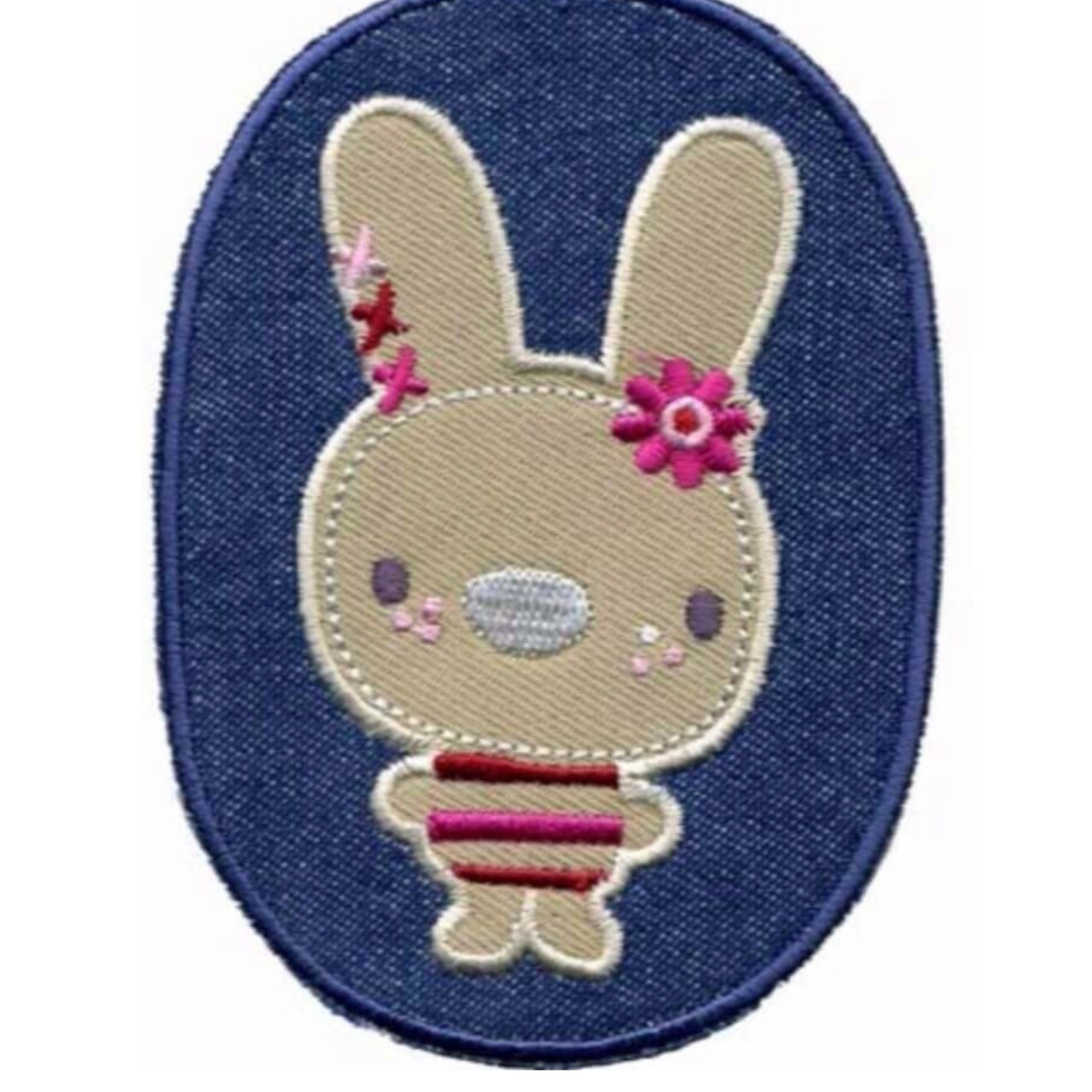 Applikation Button jeans Hase