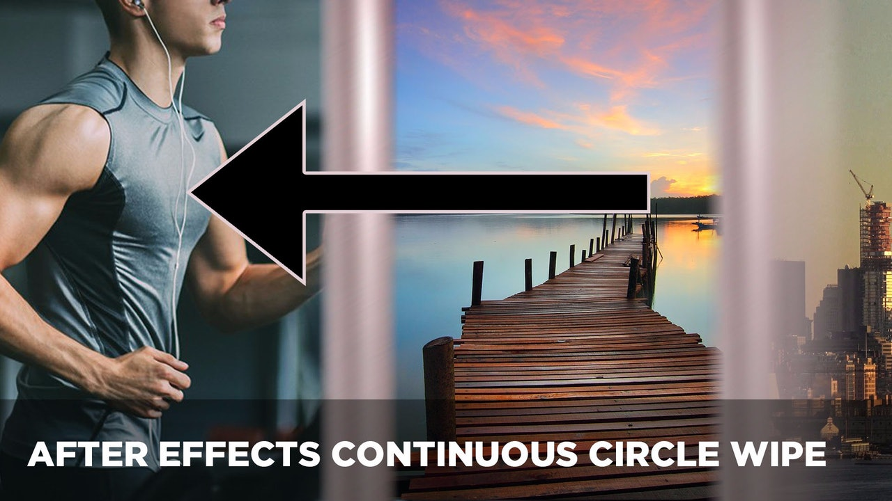 Continuous Circle Wipe + FlyThrough Transition After Effects Project File