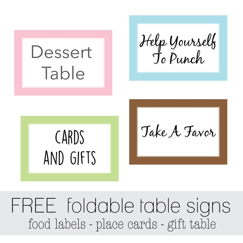 It is a photo of Free Printable Food Tent Cards throughout party printables
