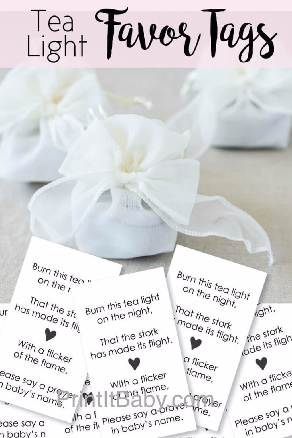 It is an image of Printable Baby Gift Tags with regard to cute