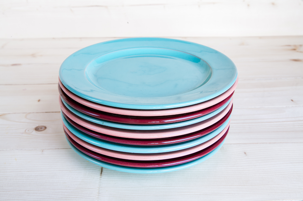 Eclectic dinner plate set