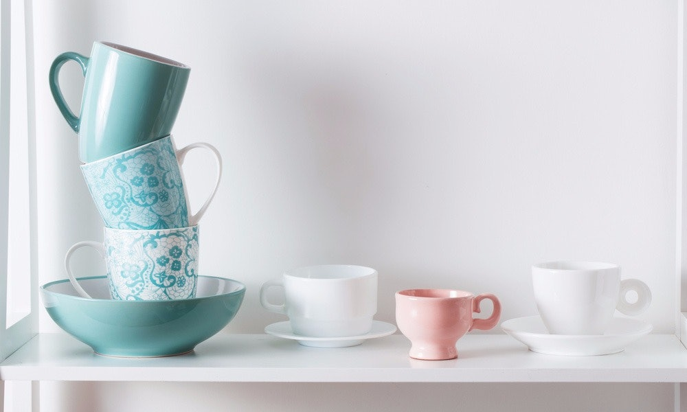 Eclectic Cups and Saucers Set