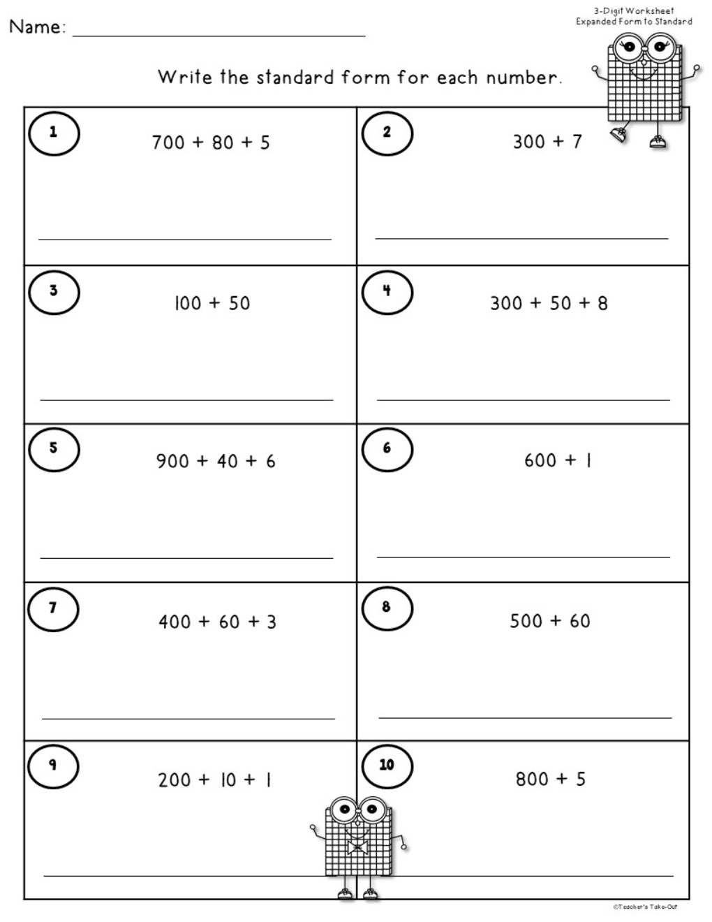 expanded form 4 408 730  10 Digit Place Value using Standard, Expanded Form, and Word Name